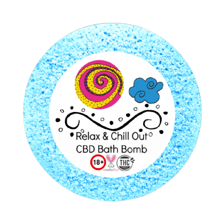 Relax & Chill Out CBD Bath Bomb 25mg VEGAN 180+gm (relaxation)